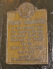 Photo of Texas Legation yellow plaque
