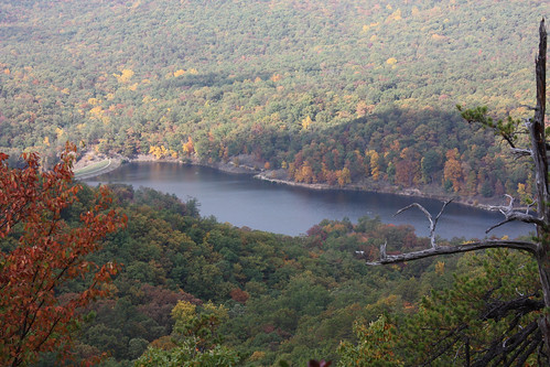 Mountain Side Trail has an impressive view of the 50-acre Douthat Lake