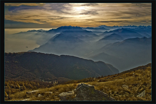 Swiss Autumn sunset. A view from Cimetta. Octoner 27,2009. No. 208.