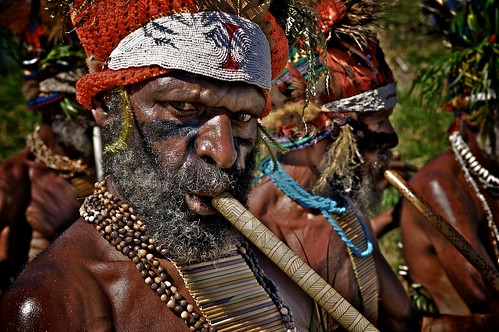 new man men festival guinea mt flute tribal tribe papua hagen