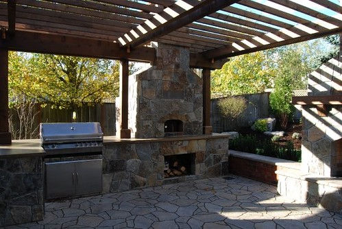 outdoor entertaining area with bbq and pizza oven flickr