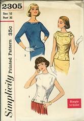 simplicity blouse 2305