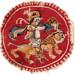 Medallion with man riding lion 5th-6thc Egypt