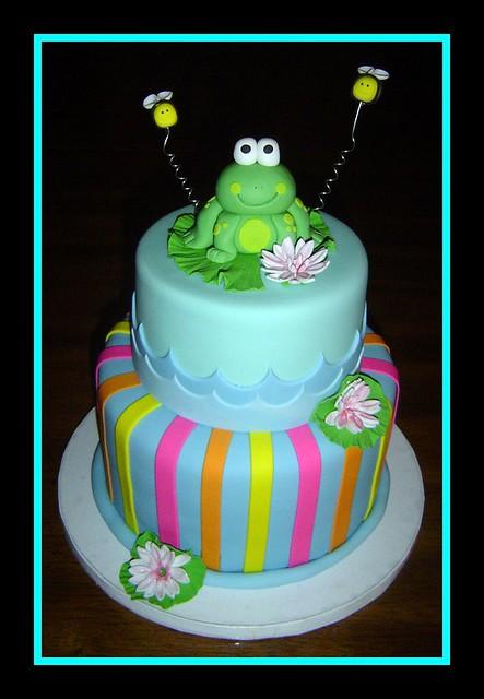 frog birthday cake