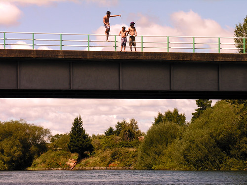 Boys on a bridge by Roving I