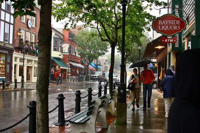 Bar Harbor in the rain