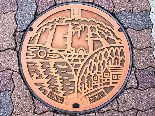 Shinji Shimane manhole cover(島根県宍道町のマンホール)