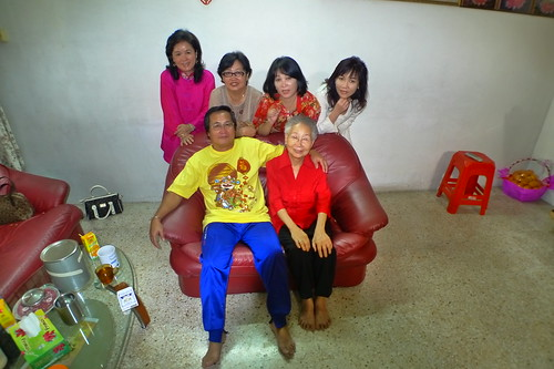 Mom with 3 sisters and a brother with grandma