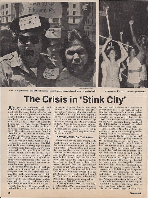07/14/75 Newsweek Magazine - Crisis In Stink City (1/4)