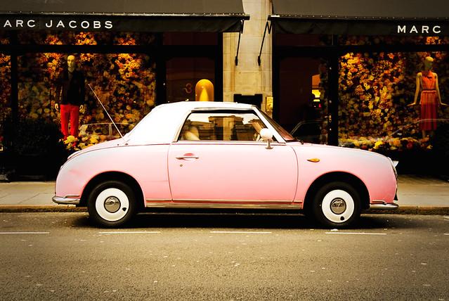 Pink Car - Nissan Figaro