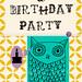 an OWL birthday - pack of 25 custom printed birthday invitations - chic . modern . style by Melanie Alvarez | Papergirl Press