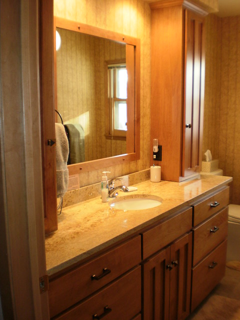 Birch bathroom vanity and tower cabinets flickr photo - Bathroom vanities with storage towers ...