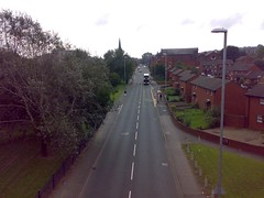 Rare view up Domestic Street