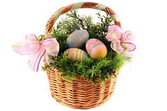 food, gift basket, easter egg, easter, basket,
