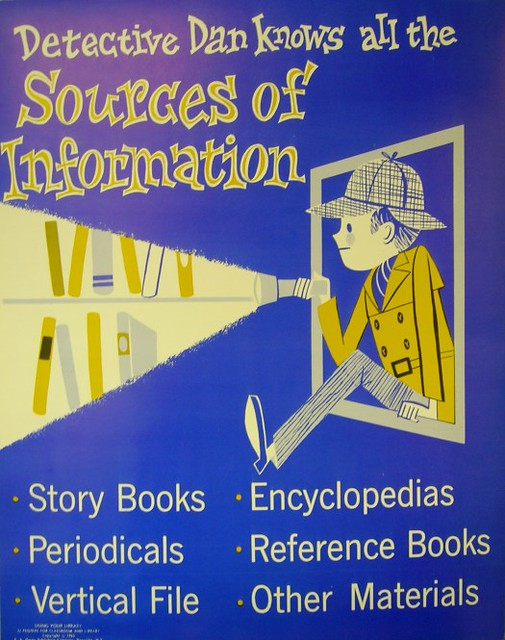 RETRO POSTER - Detective Dan Knows All the Sources of Information