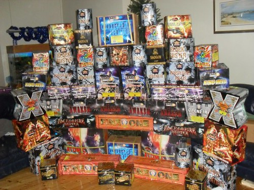 Bryans stash of fireworks