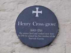 Photo of Henry Cross-grove green plaque