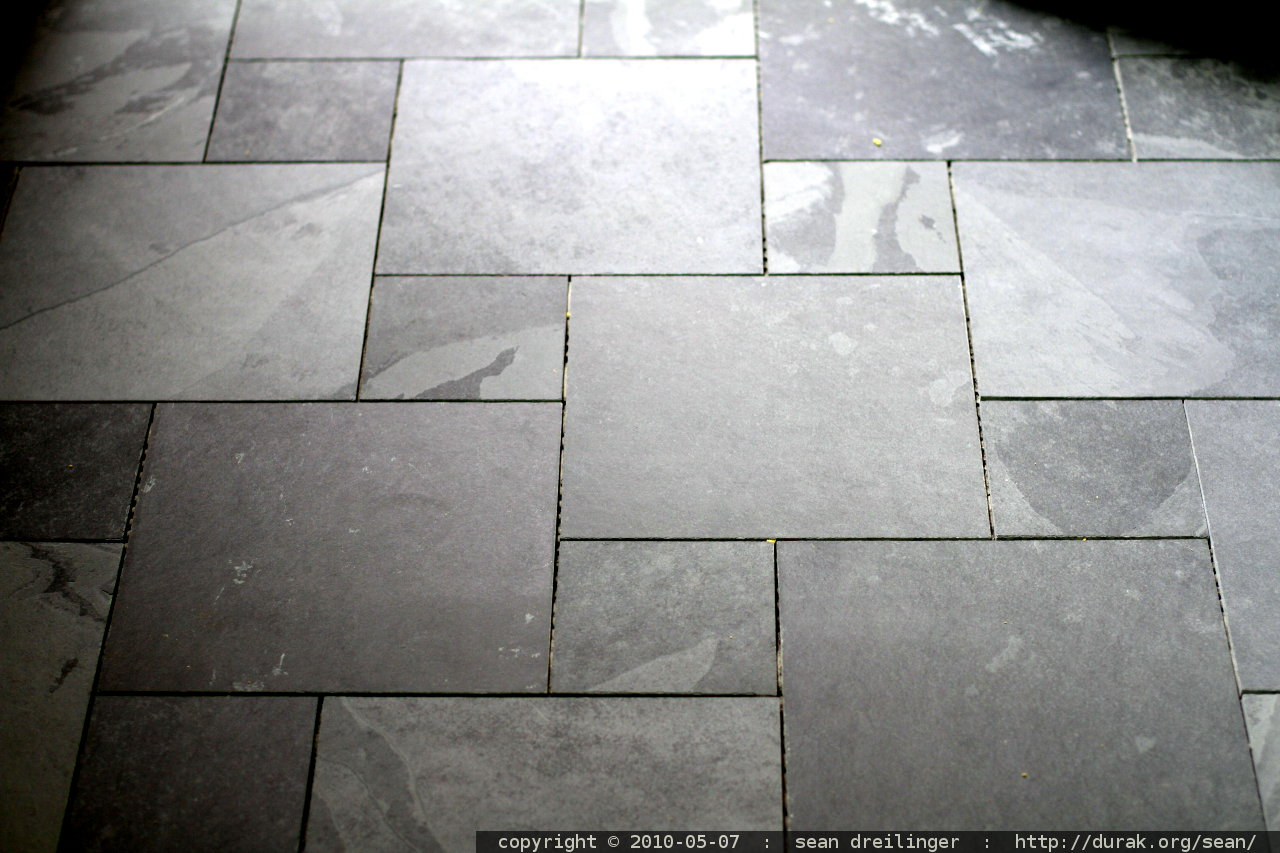 photo  slate tile  pre grout