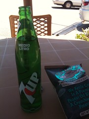 Mexican 7up as await my sandwich
