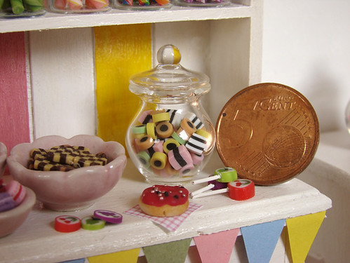 Miniature Food - Dollhouse Candy Cabinet #5