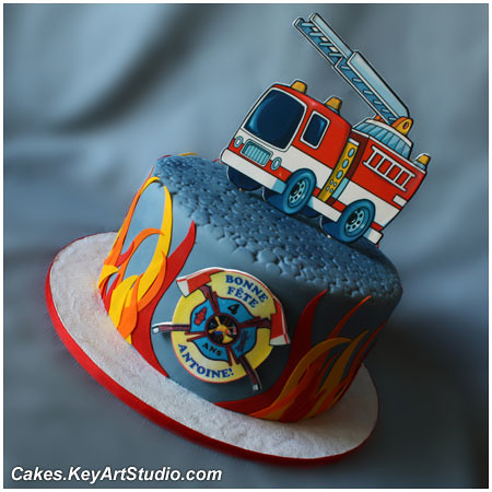 Fire Truck / Fire Engine Cake