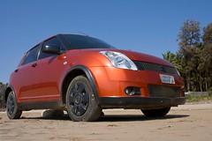 automobile(1.0), wheel(1.0), vehicle(1.0), suzuki swift(1.0), city car(1.0), compact car(1.0), land vehicle(1.0), hatchback(1.0),