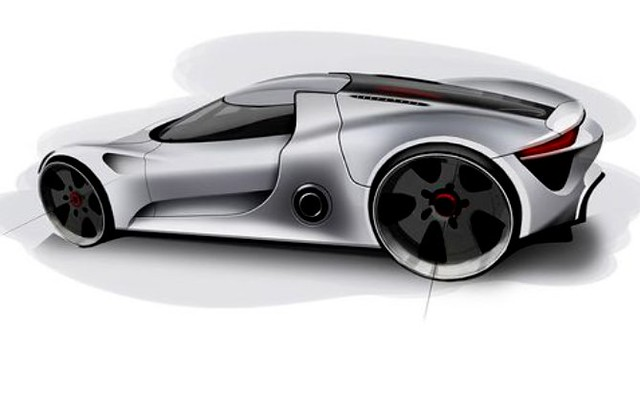 porsche 918 spyder first design drawings 06 flickr photo sharing. Black Bedroom Furniture Sets. Home Design Ideas