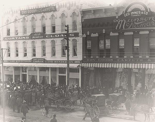 Finlay Ross Furniture Store Wichita Ks An 1898 Photo