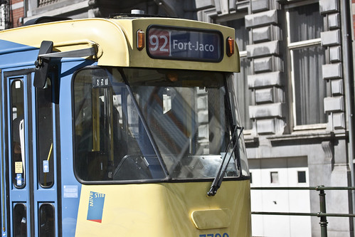 Brussels - The 92 Tram On Its Way To Fort-Jaco by infomatique