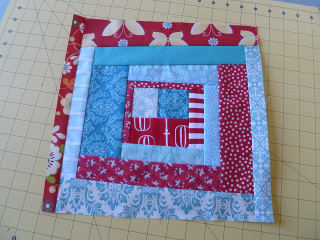 Red & Aqua 2 June Block #2