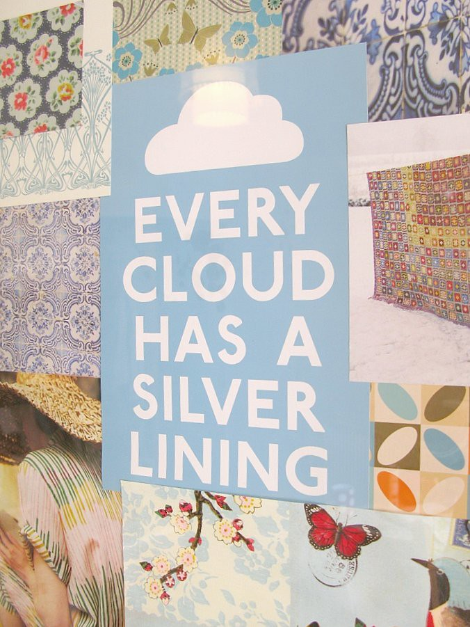 'Every cloud has a silver lining' - a new mood board for my studio | Emma Lamb