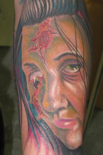 zombie portrait half sleeve 02