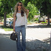 Leyendecker blouse+ripped Levis jeans+Miu Miu clog sandals+Louis Vuitton bag-og