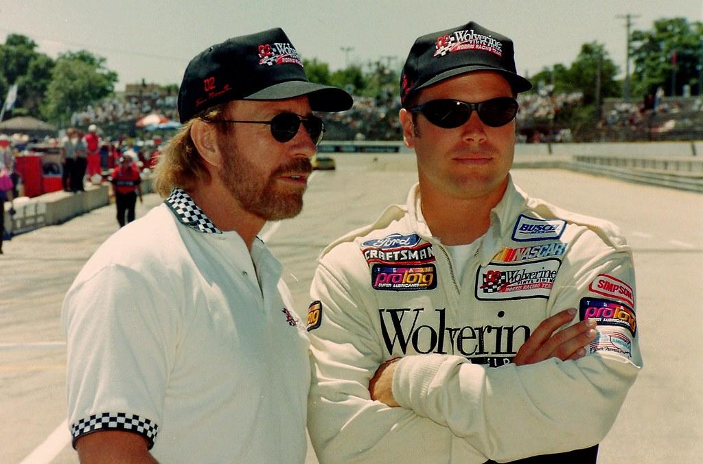Photo of Chuck Norris  & his  Son  Eric Norris