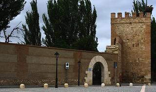 Bilde av Puerta de Madrid. españa canon spain puerta torre arco muralla 2010 comunidaddemadrid murallas alcaládehenares ccby canonpowershota700 09062010 juniode2010