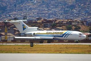 110ca - Aero Continente Boeing 727; OB-1601@CUZ;29.09.2000