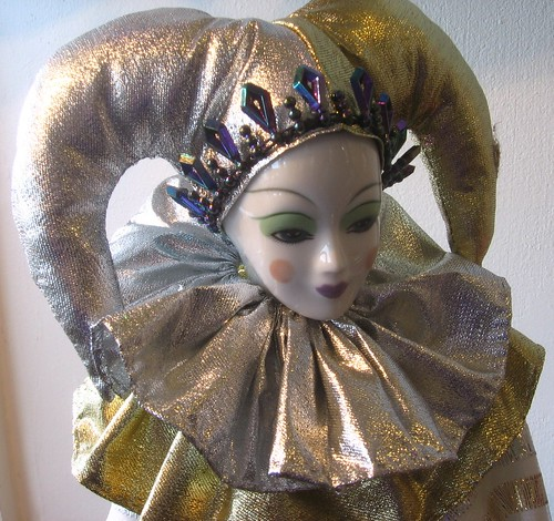 Camelot doll white clown closeup 2