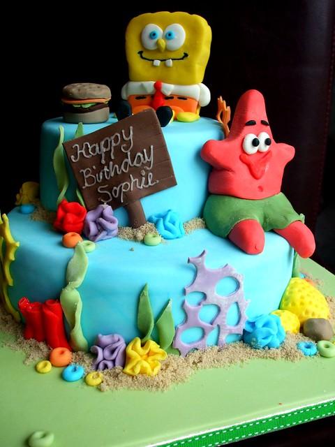spongebob cake a gallery on Flickr