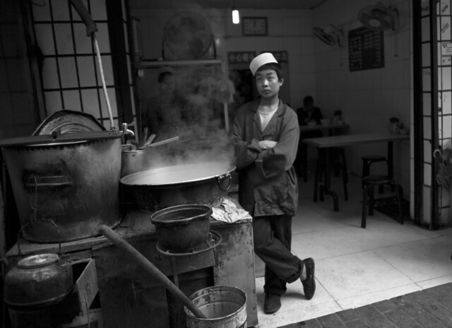 Young cook in Xian