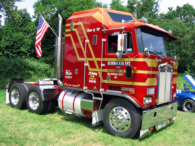 Kenworth K 100 Aerodyne Cabover http://www.flickr.com/photos/a-flickr-of-interest/5132282543/