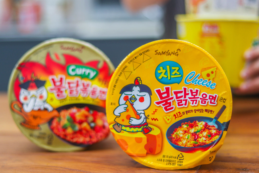 Korean Spicy Noodles Challenge: SAMYANG CHEESE HOT CHICKEN