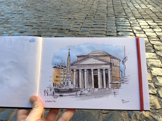 Early morning sketch of the Pantheon