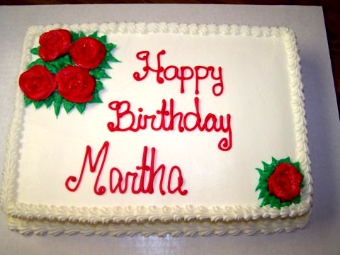 happy birthday martha cake