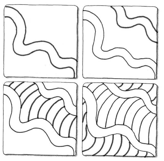 how to draw a pattern step by step