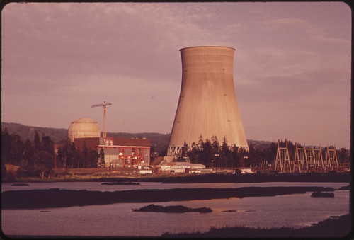 The Trojan Nuclear Plant on the Banks of the Columbia River Portland General Electric, the Builder of the Plant, Has Encountered Great Opposition From Environmentalists 05/1973