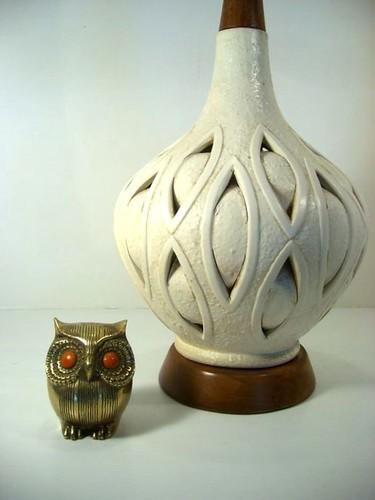Mid Century Modern Tall Organic Lamp Base