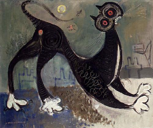 Nieuwenhuys, Jan (1922-1986) - 1947 A Cat (Christie's Amsterdam, 1998)