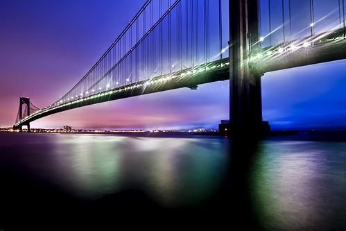 nyc newyorkcity longexposure bridge newyork night geotagged hudsonriver statenisland verrazanobridge hdr verrazanonarrowsbridge verrazano mudpig stevekelley