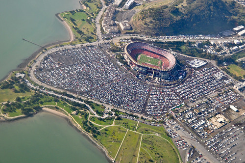 candlestick park aerial view san francisco 49ers vs