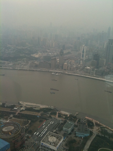 Smoggy Shanghai from Oriental Pearl TV Tower